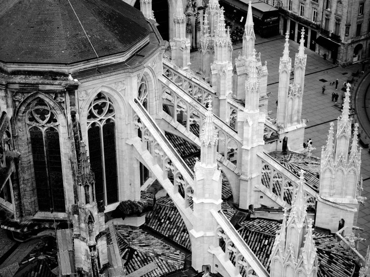 Top view on Saint-André Cathedrale - Bordeaux - France